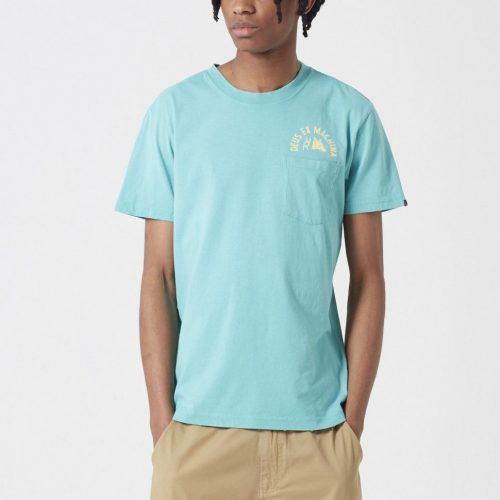 Mens Deus Ex Machina Sunbleached Impermanence T-shirt in Lagoon Blue