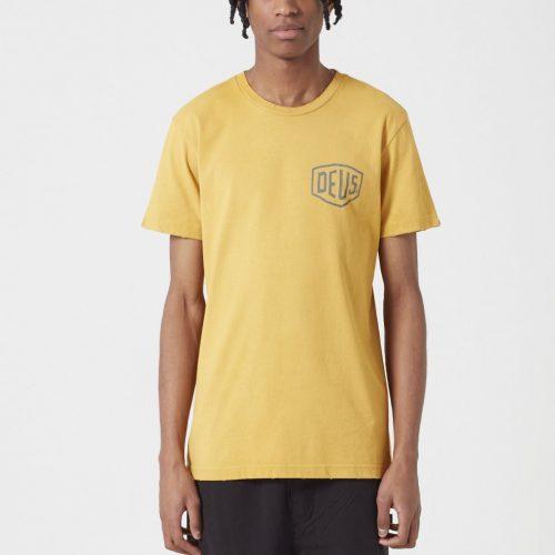 Mens Deus Ex Machina Sunbleached Tokyo T-shirt in Gold