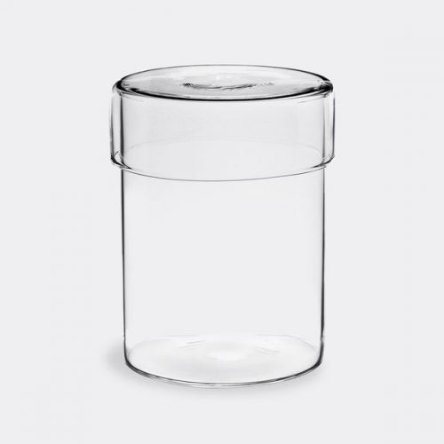 Mens Kinto Schale Glass Case Container - Large - in Clear Glass