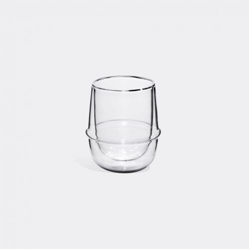 Kinto - 'Kronos' coffee cup in Transparent Heat-resistant glass