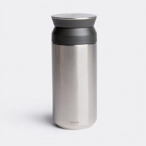 Mens Kinto Travel Tumbler in Silver Stainless Steel & Plastic