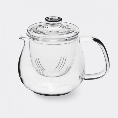 Mens Kinto Unitea Teapot Set in Transparent Heat-resistant Glass