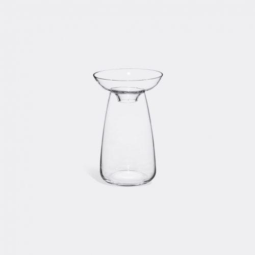 Kinto Vases - 'Aqua Culture' vase, large in Transparent Soda glass
