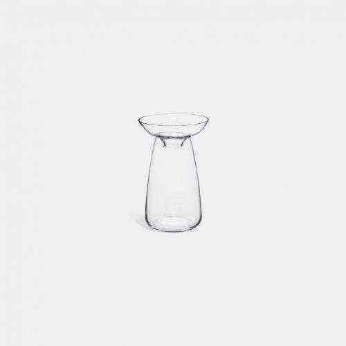 Kinto Vases - 'Aqua Culture' vase, small in Transparent Soda glass