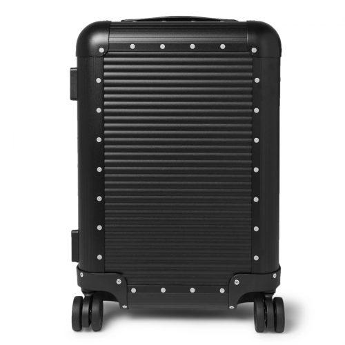 Mens Fabbrica Pelletterie Milano Spinner 53cm Aluminium Carry-on Suitcase in Black Caviar