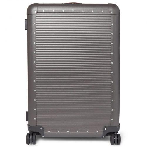Mens Fabbrica Pelletterie Milano Spinner 76cm Aluminium Suitcase in Gray