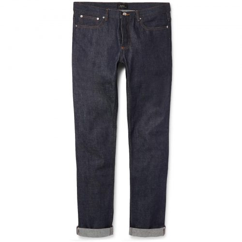 Mens A.P.C. Petit New Standard Skinny-fit Dry Selvedge Denim Jeans in Indigo
