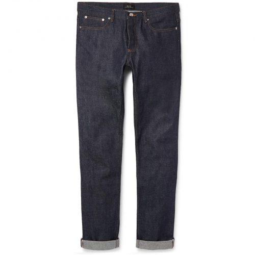 Mens A.P.C. Petit New Standard Skinny-fit Dry Selvedge Denim Jeans in Indigo