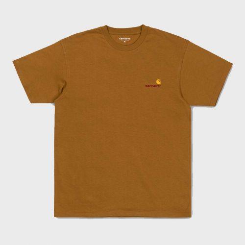 Carhartt American Script T-Shirt - Hamilton Brown