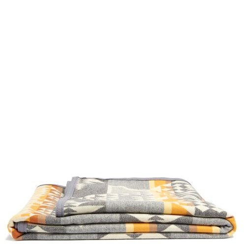 Mens Pendleton Arrowhead Wool Blanket in Grey Multi