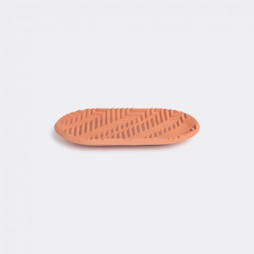 Phil Cuttance Decorative Objects - 'Herringbone' tray, brick red in Brick red Material