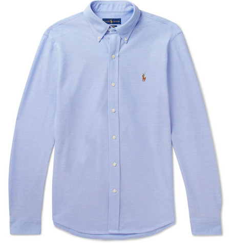 Polo Ralph Lauren - Button-down Collar Cotton-piqué Shirt - Blue