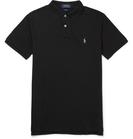 Polo Ralph Lauren - Slim-fit Cotton-piqué Polo Shirt - Black