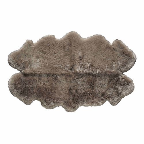 Sheepskin rug in beige 110x180