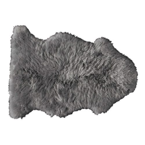 Sheepskin rug in grey 55 x 90 cm