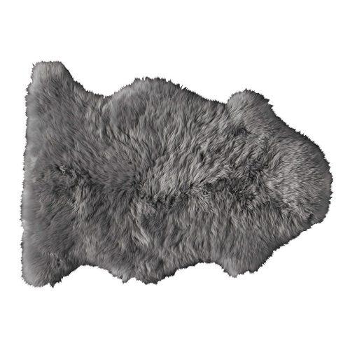 Sheepskin rug in grey 55 x 90 cm