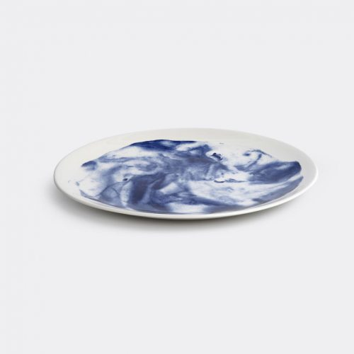 1882 Ltd Tableware - 'Indigo Storm' dinner plate in Multicolor Earthenware