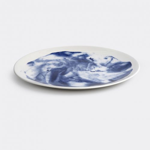 Mens 1882 Ltd Indigo Storm Dinner Plate in Blue Multicolor