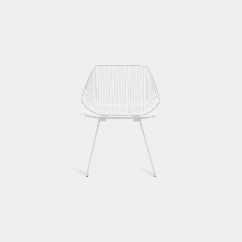 Bend Goods Furniture - 'Bunny Lounge' chair, white in White Hot Dip Galvanized Iron - Powd