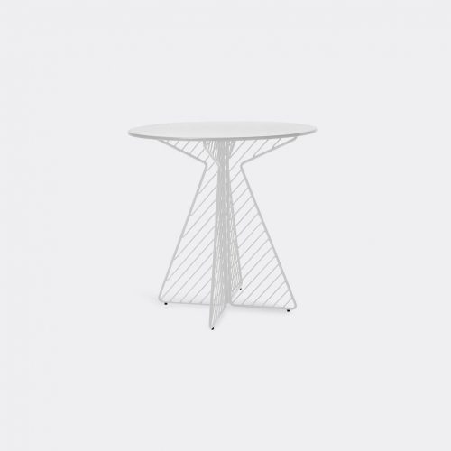 Bend Goods Furniture - 'Café Table', white in White Hot Dip Galvanized Iron - Powd