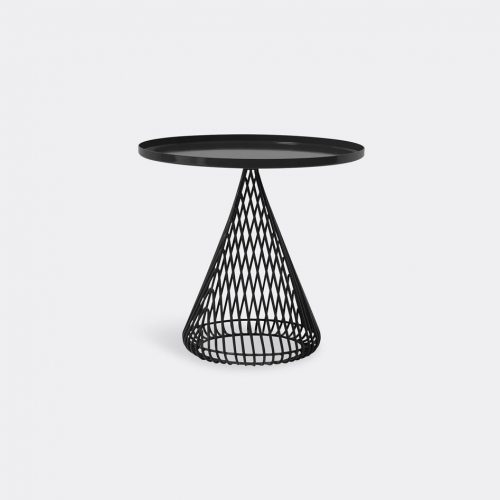 Bend Goods Furniture - 'Cono Side Table', black in Black Hot Dip Galvanized Iron - Powd