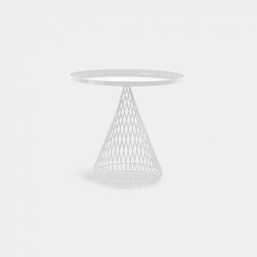 Bend Goods Furniture - 'Cono Side Table', white in White Hot Dip Galvanized Iron - Powd