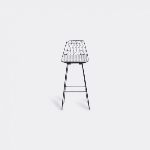Bend Goods Furniture - 'Lucy Bar Stool', black in Black Hot Dip Galvanized Iron - Powd