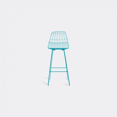 Bend Goods Furniture - 'Lucy Bar Stool', peacock in Peacock Hot Dip Galvanized Iron - Powd