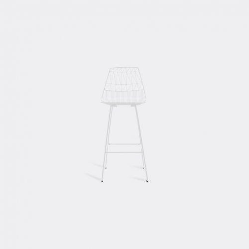 Bend Goods Furniture - 'Lucy Bar Stool', white in White Hot Dip Galvanized Iron - Powd