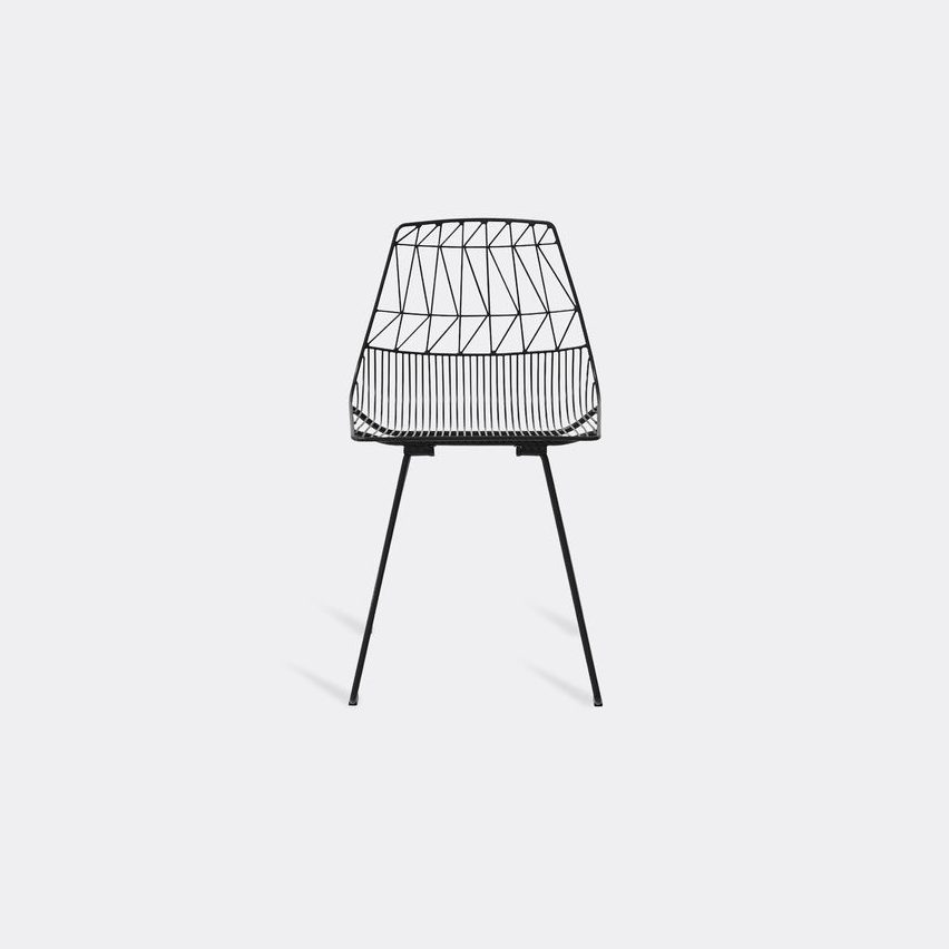 Bend Goods Furniture - 'Lucy' side chair, black in Black Hot Dip Galvanized Iron - Powd