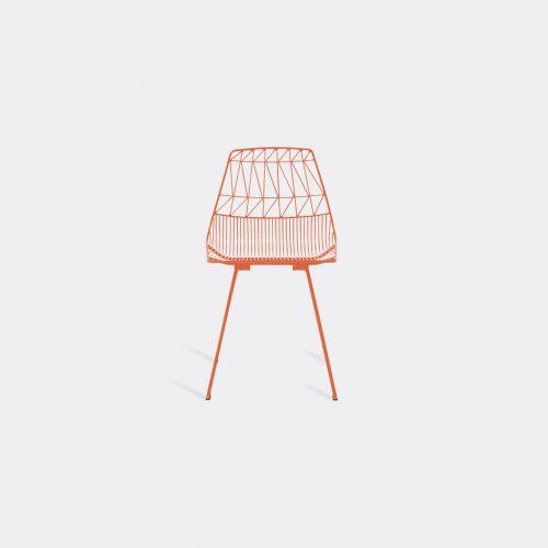 Bend Goods Furniture - 'Lucy' side chair, orange in Orange Hot Dip Galvanized Iron - Powd