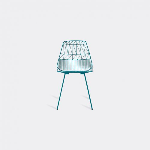 Bend Goods Furniture - 'Lucy' side chair, peacock in Peacock Hot Dip Galvanized Iron - Powd