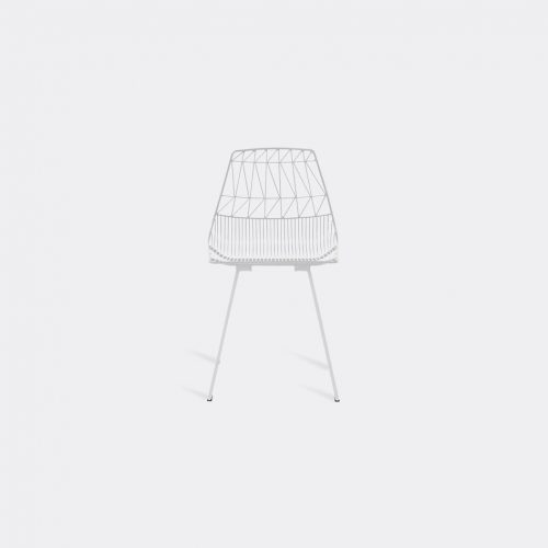 Bend Goods Furniture - 'Lucy' side chair, white in White Hot Dip Galvanized Iron - Powd