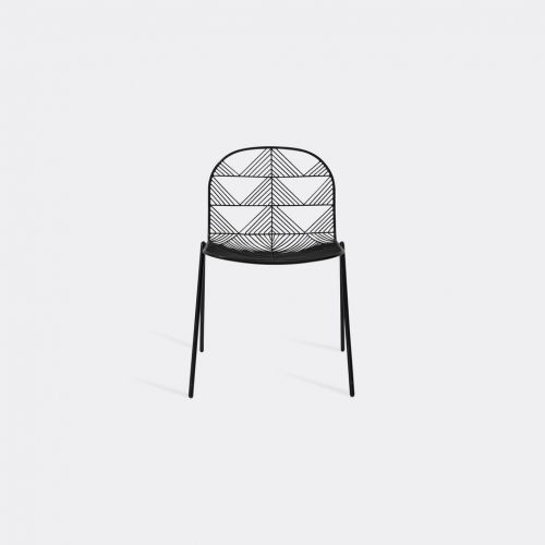 Bend Goods Furniture - Stacking Betty' chair, black in Black Hot Dip Galvanized Iron - Powd