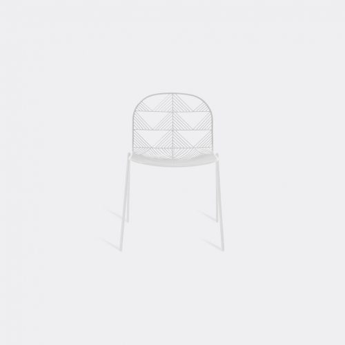 Bend Goods Furniture - Stacking Betty' chair, white in White Hot Dip Galvanized Iron - Powd