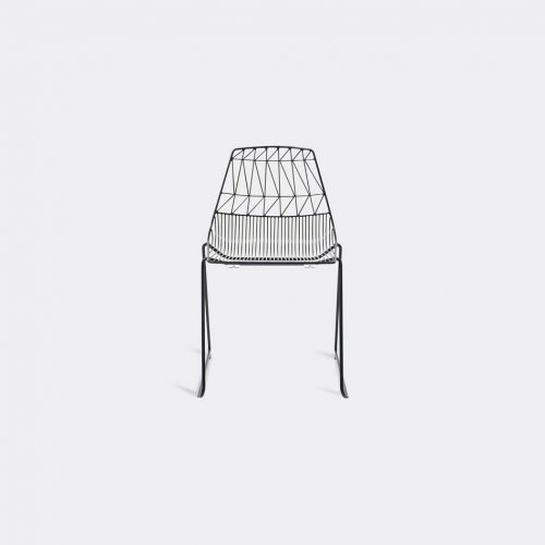 Bend Goods Furniture - 'Stacking Lucy' chair, black in Black Hot Dip Galvanized Iron - Powd