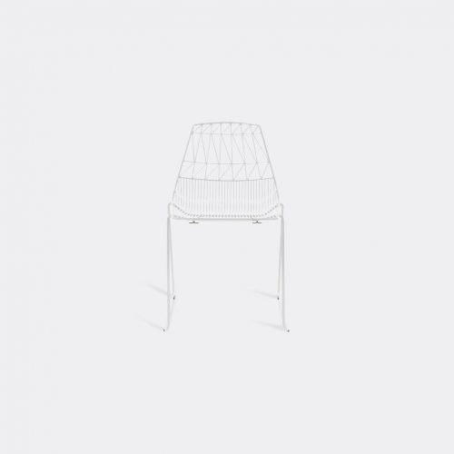 Bend Goods Furniture - 'Stacking Lucy' chair, white in White Hot Dip Galvanized Iron - Powd