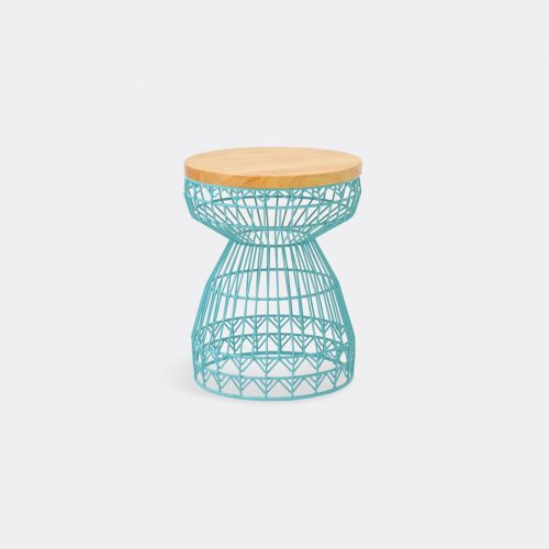 Bend Goods Furniture - 'Sweet' stool, aqua in Aqua Hot Dip Galvanized Iron - Powd