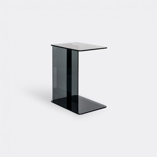 Case Furniture Furniture - 'Lucent' laptop table, smoke in Smoke Toughned Glass