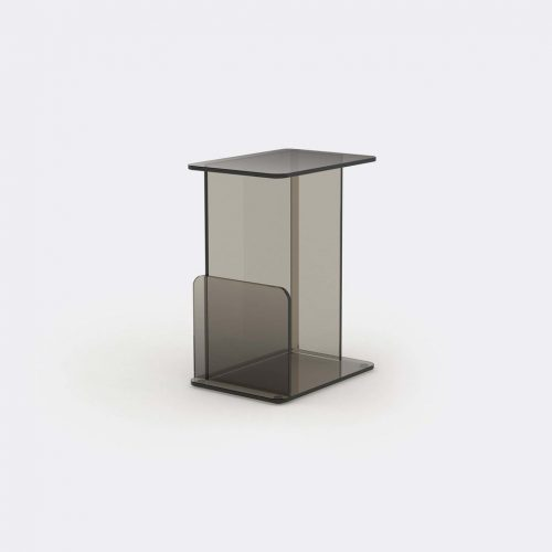 Case Furniture Furniture - 'Lucent' side table, bronze in Bronze Toughned Glass