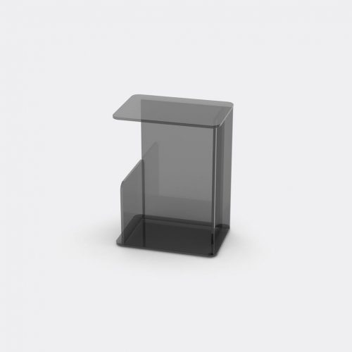 Case Furniture Furniture - 'Lucent' side table, smoke in Smoke Toughned Glass