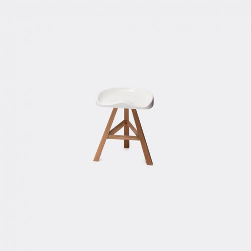 Established & Sons Furniture - 'Heidi' stool, small in White Seat is heat-formed acrylic, p
