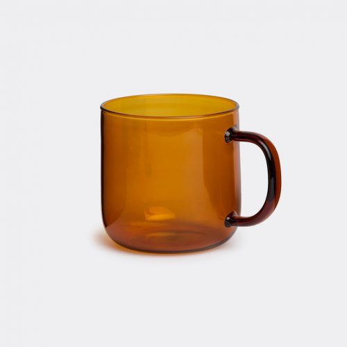 Hay Glassware - 'Borosilicate mug', amber in Orange Borosilicate glass