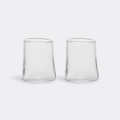Hay Glassware - 'Tela', set of two in Clear Glass