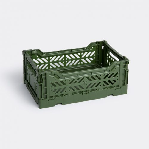 Hay Organising - 'Colour Crate', khaki in Khaki Polyethylene