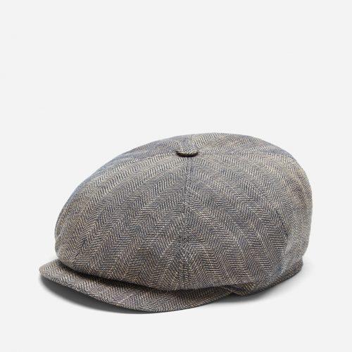 Stetson Harwinton Flat Cap (Linen) - Mottled Dunkel Beige