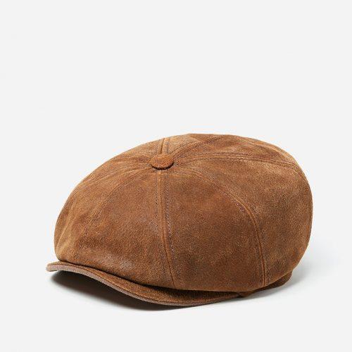 Stetson Hatteras Burney Newsboy Cap (Pigskin) - Brown