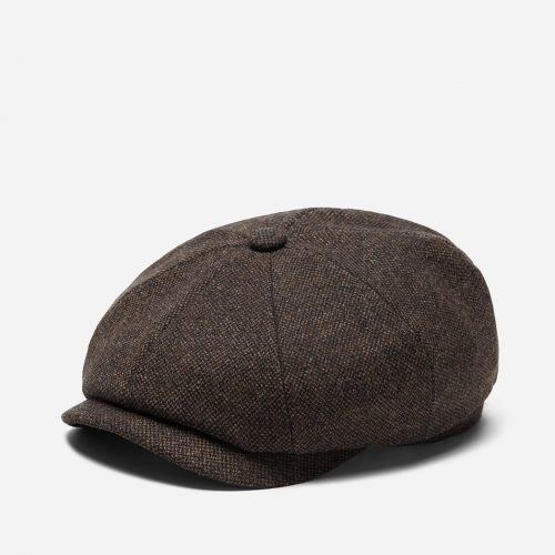 Stetson Hatteras Donegal Newsboy Cap (Wool Mix) - Brown