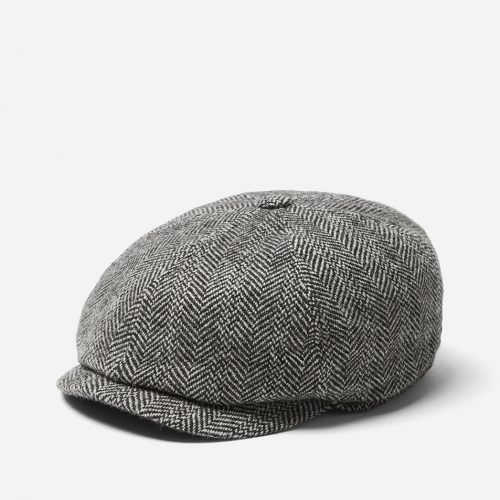 Stetson Hatteras Herringbone Newsboy Cap (Wool/Alpaca) - Black/Grey