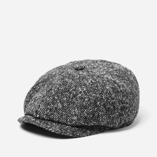 Stetson Hatteras Newsboy Cap (Donegal) - Black/Grey